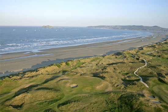 Portmarnock Golf Links aerial view