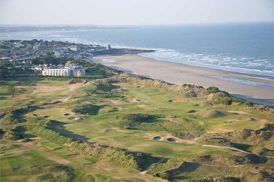 Portmarnock Golf and Hotel Links aerial view