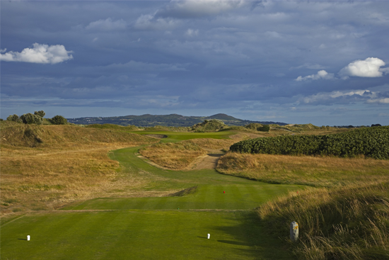 Portmarnock Golf Links Tee Shot with split fairway