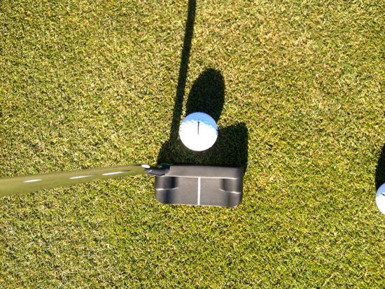 Boccieri Golf P3 M Belly Putter Standing Over Putter