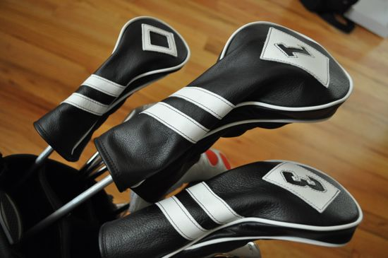 Cru Golf Headcovers covers in bag