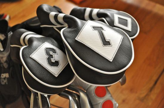 Cru Golf Headcovers set in bag