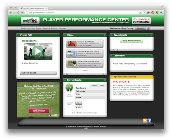 GolfTEC Lessons PlayerPerformanceCenter